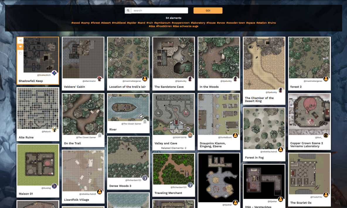 DUNGEONFOG | RPG Map Tool & Notes Editor / Dungeonfog